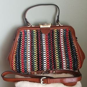 *REDUCED* EUC Patricia Nash beaded Gracchi Satchel